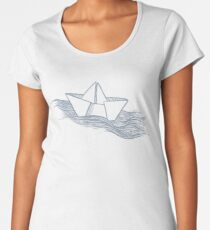 Schiff – hellgrau Frauen Premium T-Shirts