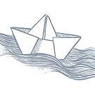Schiff – hellgrau von Jipijaja
