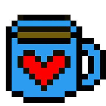 8-Bit Coffee Love  by CodeytheArtist