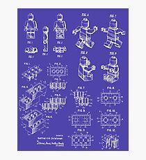 Patent-Drucke - Lego Building Bricks und Lego Man Fotodruck
