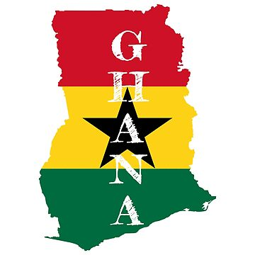 Ghana country and flag design by jhussar