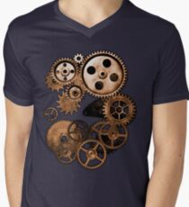 Steampunk Gears Men's V-Neck T-Shirt