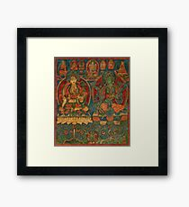 The White Tara and The Green Tara Framed Print