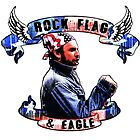 Rock, Flag and eagle by American  Artist