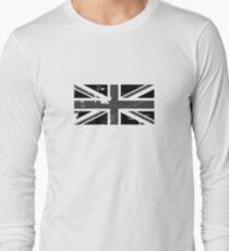 Union Jack - Black and White Long Sleeve T-Shirt