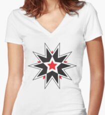 Star 59 Women's Fitted V-Neck T-Shirt