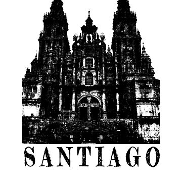 Camino de Santiago cathedral art design by jhussar