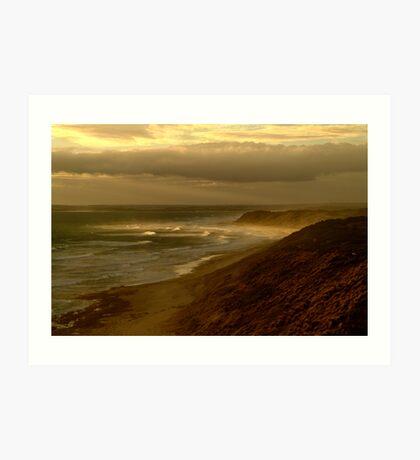 Sunburst 13th Beach,Bellarine Peninsula Art Print