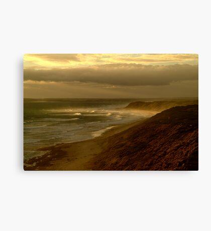 Sunburst 13th Beach,Bellarine Peninsula Canvas Print