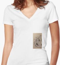 Marylin Manson Monroe Women's Fitted V-Neck T-Shirt