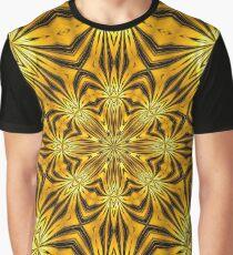 Golden Morning Double Kaleidoscope Neon Yellow Graphic T-Shirt