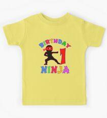 FIRST BIRTHDAY NINJA T Shirt Age 1 Kids Tee