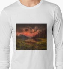 Maligne Lake, Canada Long Sleeve T-Shirt