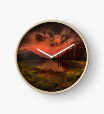 Maligne Lake, Canada Clock