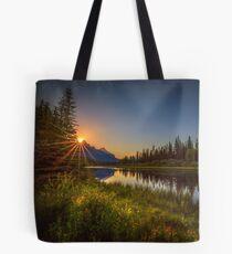 Bow River Setting Sun Tote Bag