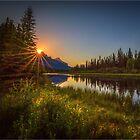 Bow River Setting Sun by Greg Earl