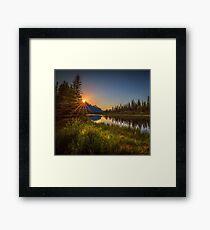Bow River Setting Sun Framed Print