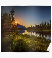 Bow River Setting Sun Poster