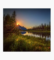 Bow River Setting Sun Photographic Print