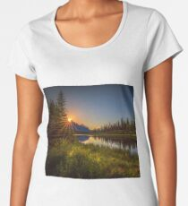 Bow River Setting Sun Premium Scoop T-Shirt