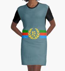 Eritrean Flag - Eritrean Emblem & Eritrea Flag Shirt Graphic T-Shirt Dress