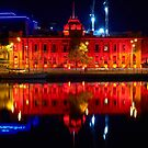 Hobart Museum Reflections in Red by PeteOfTas