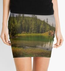 Maligne Lake - Canada Mini Skirt