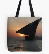 Sunset on Zanzibar Tote Bag