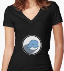 Animal Sea Variation 3 Women's Fitted V-Neck T-Shirt