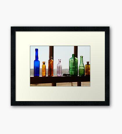 Bottles, Silverton Cafe, Outback Australia Framed Print