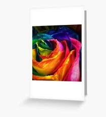 Rainbow Rose Greeting Card