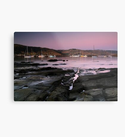 Dusk Apollo Bay Harbour Metal Print
