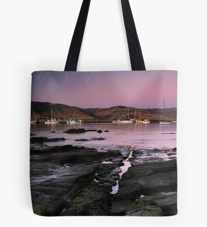 Dusk Apollo Bay Harbour Tote Bag