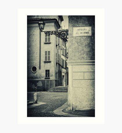 Strada al Duomo - The road to the Duomo Art Print