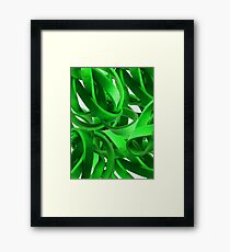 Entanglement in Green Framed Print
