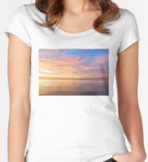 Good for the Soul - Mesmerising Sunrise Clouds Over Lustrous Waters Women's Fitted Scoop T-Shirt