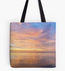 Good for the Soul - Mesmerising Sunrise Clouds Over Lustrous Waters Tote Bag