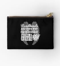 Redheads are Gods Way Of Giving the World Roses Studio Pouch