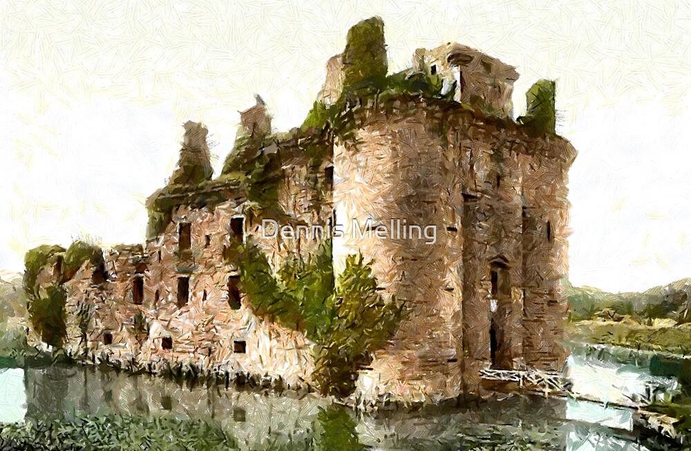 Caerlaverock Castle, Dumfries, Scotland 13th century by Dennis Melling