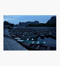 Tam Coc Boats Photographic Print