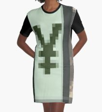 Pixiilated Money by RootCat Graphic T-Shirt Dress