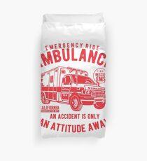 Conception d'affiche d'ambulance d'urgence Housse de couette
