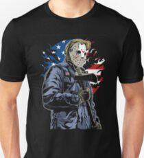 American Flag Axe Murderer  Unisex T-Shirt
