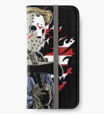 American Flag Axe Murderer  iPhone Wallet/Case/Skin