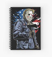 American Flag Axe Murderer  Spiral Notebook