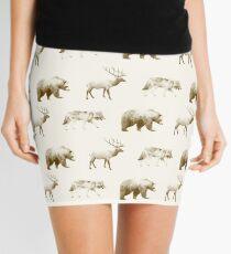 Wild Pattern // Brown Mini Skirt