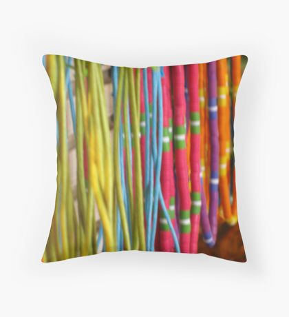 Colors of Amusement--Necklaces Throw Pillow
