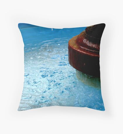 Colors of Amusement--Fountain Throw Pillow