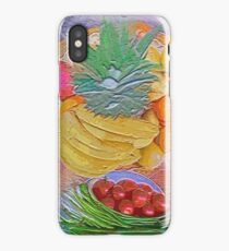 a table full of exotic fruit iPhone Case
