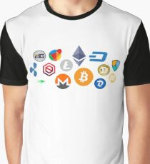 cryptocurrency patterns  Graphic T-Shirt